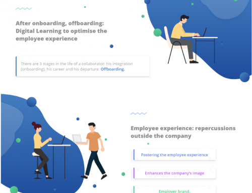 Infographics – After onboarding, offboarding : e-Learning to optimise the employee experience