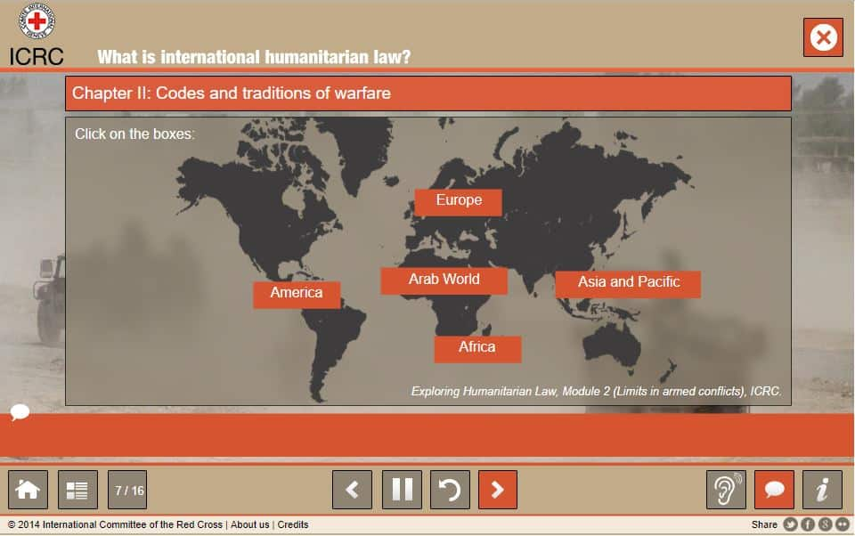 ICRC carte du monde